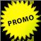 ¡Bocadillo amarillo que contiene el texto: Promo!